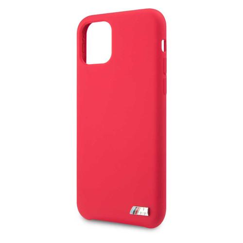 Чехол (клип-кейс) BMW Silicon case, для Apple iPhone 11, красный [bmhcn61msilre]