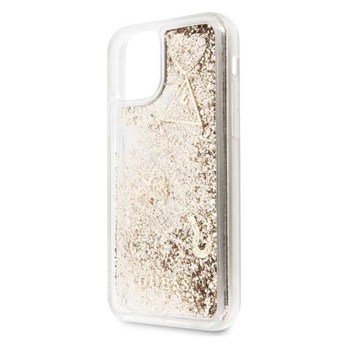 Чехол (клип-кейс) Guess Glitter, для Apple iPhone 11, золотистый [guhcn61glhflgo] NONAME