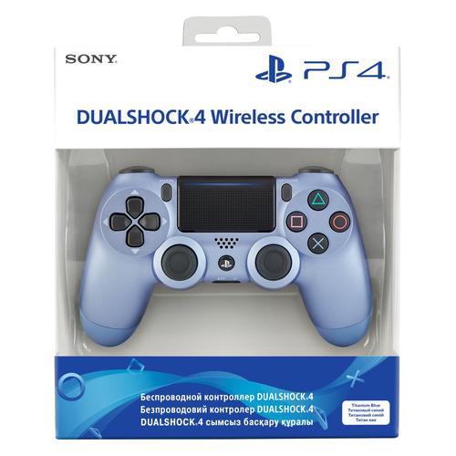 Геймпад Беспроводной PLAYSTATION Dualshock 4, Bluetooth, для PlayStation 4, титановый синий [ps719949602]