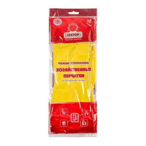Перчатки хлопок TEXTOP многоразовые, размер: M, латекс, 1 пара [t220]