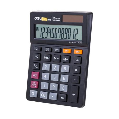 Калькулятор DELI EM01320, 12-разрядный, черный DELI