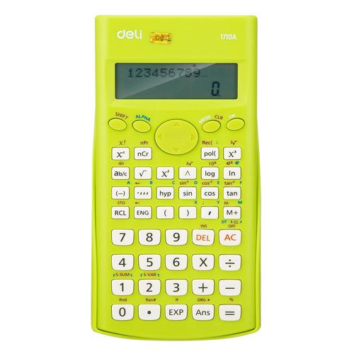 Калькулятор DELI E1710A/GRN, 10+2-разрядный, зеленый DELI