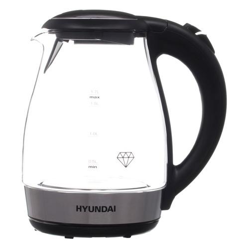 Чайник электрический HYUNDAI HYK-G2030, 2200Вт, черный HYUNDAI