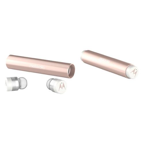 Наушники с микрофоном MOTOROLA Vervebuds 300, Bluetooth, вкладыши, розовый [sh032rg] цена