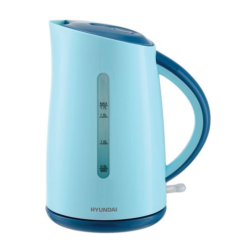 Чайник электрический HYUNDAI HYK-P3023, 2200Вт, голубой и синий HYUNDAI