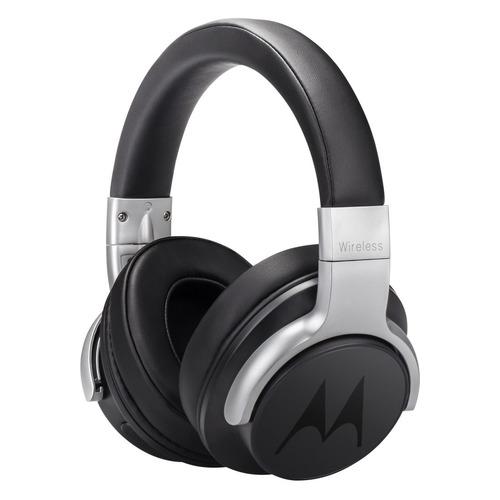 Наушники с микрофоном MOTOROLA Pulse Escape ANC 500, 3.5 мм/Bluetooth, накладные, черный [sh040bk] motorola pulse max wired black