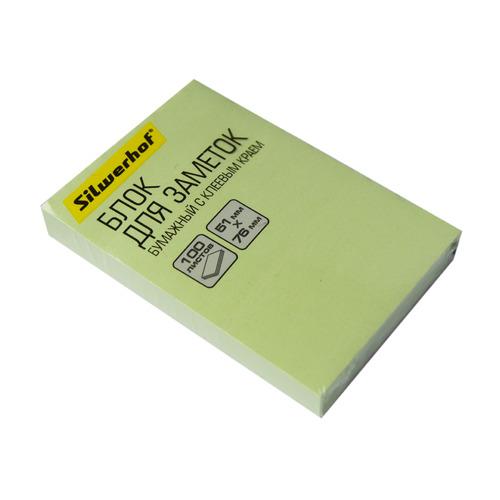 Упаковка блоков самоклеящихся SILWERHOF 682155-06 682155-06 51x76 зеленый 12 шт./кор. упаковка напалечников для бумаг silwerhof 17мм диам 28мм выс резина зеленый [672202] 10 шт кор