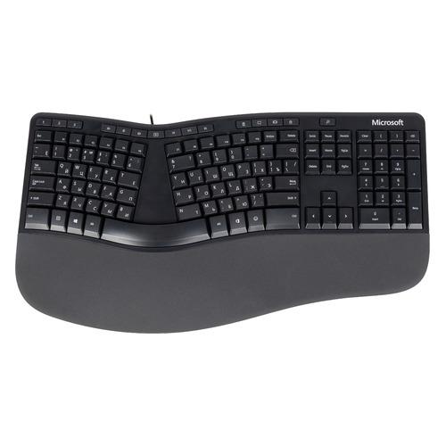 Клавиатура MICROSOFT Ergonomic for Business, USB, c подставкой для запястий, черный [lxn-00011] клавиатура microsoft 4000 usb c подставкой для запястий черный серебристый [b2m 00020]