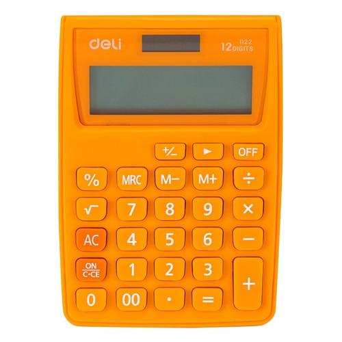 Калькулятор DELI E1710A/BLU, 10+2-разрядный, синий DELI