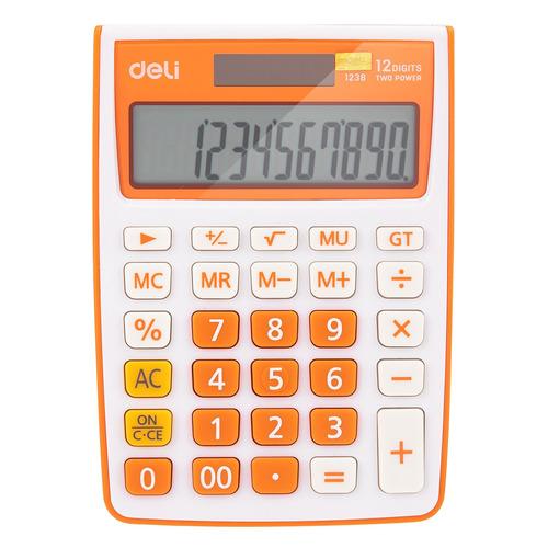 Калькулятор Deli E1238/OR, 12-разрядный, оранжевый