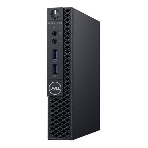 Компьютер DELL Optiplex 3070, Intel Pentium G5420T, DDR4 4Гб, 128Гб(SSD), Intel UHD Graphics 610, Windows 10 Professional, черный [3070-4715] цена
