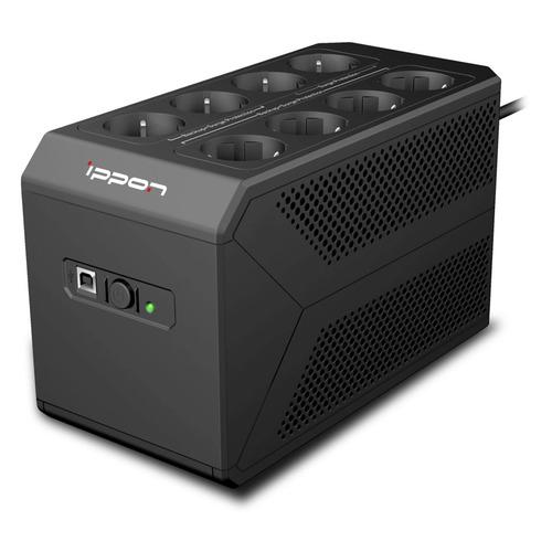 ИБП IPPON Back Comfo Pro II 650, 650ВA ибп ippon back power pro ii 600 360вт 600ва черный