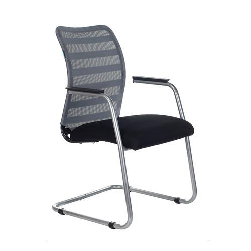 Кресло БЮРОКРАТ CH-599AV, на полозьях, ткань, черный [ch-599av/32g/tw-11]