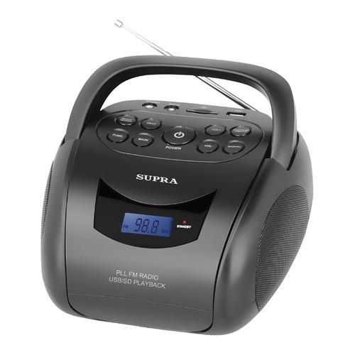 Аудиомагнитола SUPRA BB-24MUS, черный аудиомагнитола supra bts 580 черный