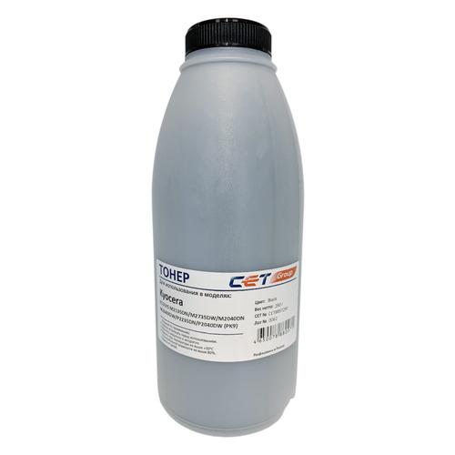 Тонер CET PK9, для Ecosys M2135dn/M2735dw/M2040dn/M2640idw/P2235dn/P2040dw, черный, 290грамм, бутылка блок фотобарабана sakura dk1150 dk1160 dk1170 для kyocera mita ecosys m2040dn m2135dn m2540dn m2540dw m2635dn m2635dw m2640idw m2735dn m2735d
