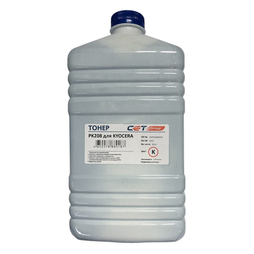 Тонер CET PK208, для Kyocera Ecosys M5521cdn/M5526cdw/P5021cdn/P5026cdn, черный, 500грамм, бутылка