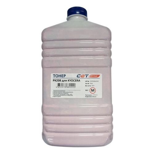 Тонер CET PK208, для Kyocera Ecosys M5521cdn/M5526cdw/P5021cdn/P5026cdn, пурпурный, 500грамм, бутылка