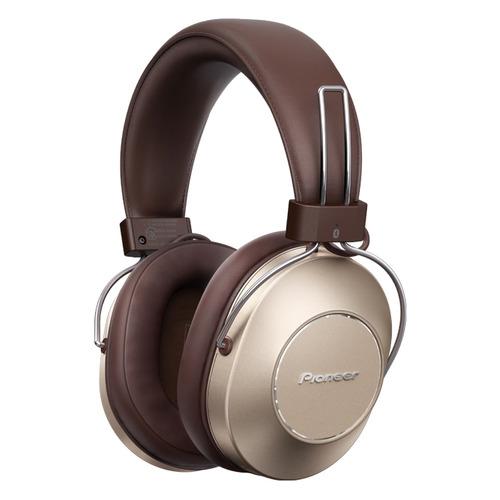 Наушники с микрофоном PIONEER SE-MS9BN-G, 3.5 мм/Bluetooth, мониторные, золотистый наушники pioneer se ms7bt s 3 5 мм bluetooth мониторные серебристый