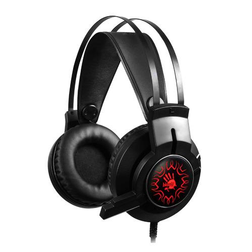 Гарнитура игровая A4 Bloody J437, для компьютера, мониторные, черный гарнитура игровая a4 bloody g430 для компьютера мониторные черный коричневый [g430 brown]