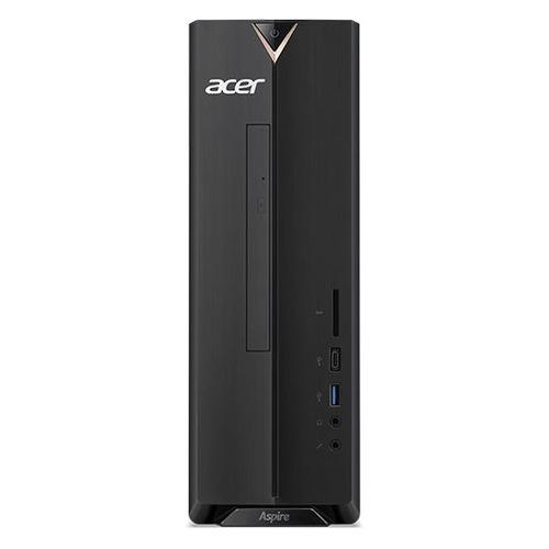 Компьютер ACER Aspire XC-886, Intel Core i3 9100, DDR4 8Гб, 128Гб(SSD), Intel UHD Graphics 630, noOS, черный [dt.bdder.019] компьютер