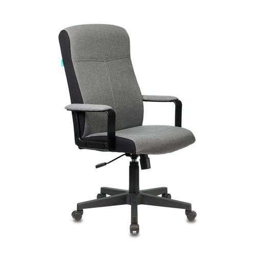Кресло руководителя БЮРОКРАТ DOMINUS, на колесиках, ткань, серый [dominus/#g] цены онлайн