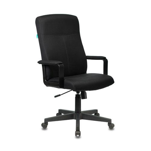 Кресло руководителя БЮРОКРАТ DOMINUS, на колесиках, ткань, черный [dominus/#b] цены онлайн