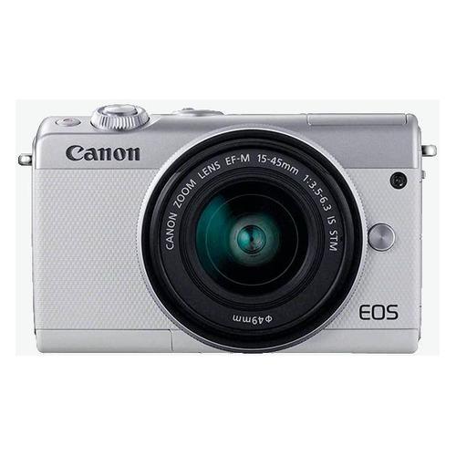 Фото - Фотоаппарат CANON EOS M100 kit ( 15-45 IS STM), белый/ серебристый [2211c012] фотоаппарат