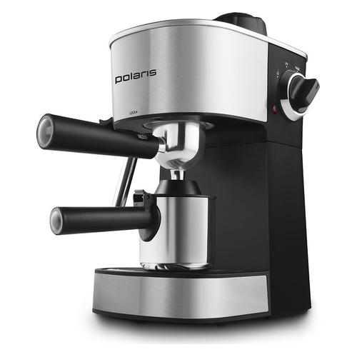 Кофеварка POLARIS PCM 4008AL, эспрессо, нержавеющая сталь / черный