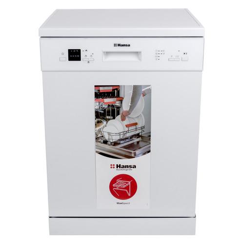 Посудомоечная машина HANSA ZWM656WEH, полноразмерная, белая встраиваемая посудомоечная машина hansa zim 414 lh