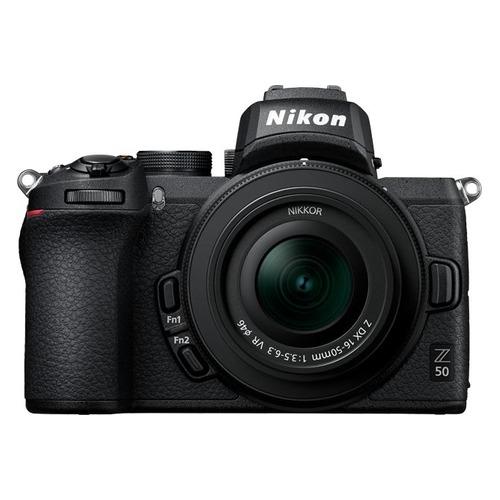 цена на Фотоаппарат NIKON Z50 kit ( Nikkor Z DX 16-50 f/3.5-6.3 VR), черный [voa050k001]
