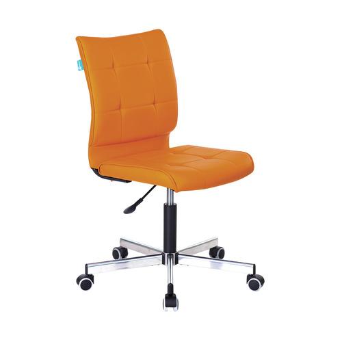 Кресло БЮРОКРАТ CH-330M, на колесиках, искусственная кожа, оранжевый [ch-330m/orange] кресло игровое бюрократ ch 776 на колесиках искусственная кожа [ch 776 bl r]