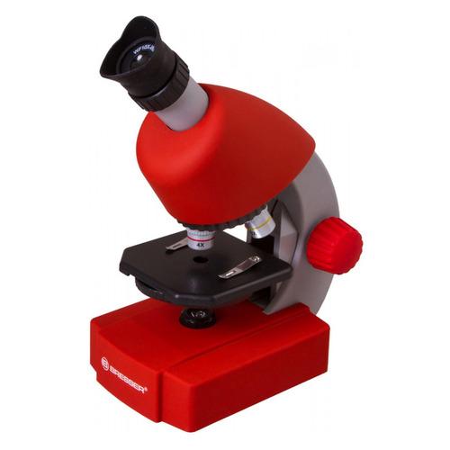Микроскоп Bresser Junior 70122 монокуляр 40-640x на 3 объектива красный
