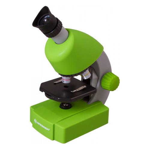 Микроскоп Bresser Junior 70124 монокуляр 40-640x на 3 объектива зеленый