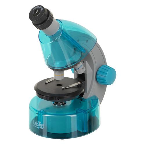 Микроскоп Levenhuk LabZZ M101 монокуляр 40-640x на 3 объектива лазурный