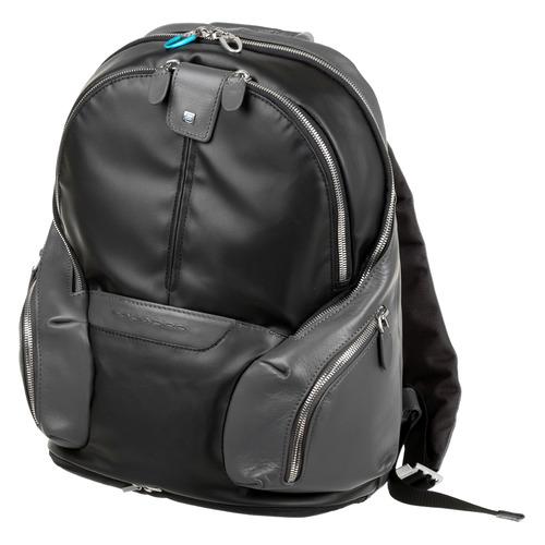Рюкзак Piquadro Coleos CA3936OS/N черный натур.кожа/ткань рюкзак унисекс piquadro pulse ca3869p15 n черный натур кожа