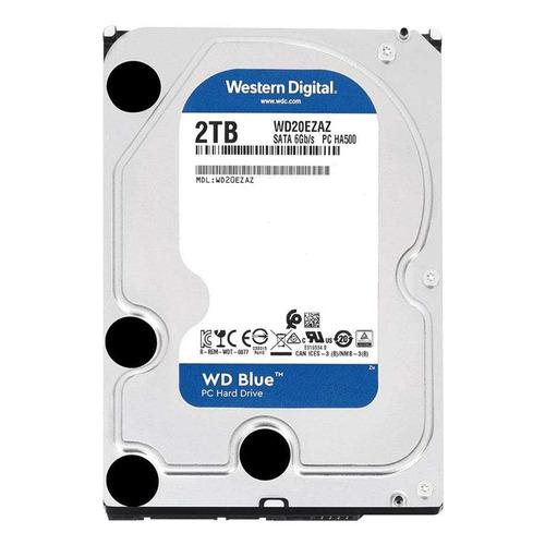 Жесткий диск WD Blue WD20EZAZ, 2ТБ, HDD, SATA III, 3.5 жесткий диск wd blue wd10ezrz 1тб hdd sata iii 3 5