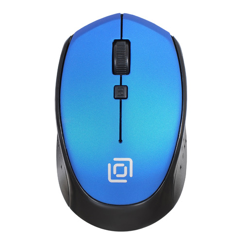 Мышь OKLICK 488MW, оптическая, беспроводная, USB, синий и черный [sr-1807 blue] мышь oklick 475mw оптическая беспроводная usb черный и синий [tm 1500 black blue]