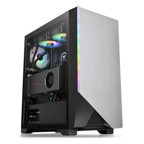 Корпус ATX THERMALTAKE H550 TG RGB, Midi-Tower, без БП, черный корпус atx thermaltake suppressor f31 tg midi tower без бп черный
