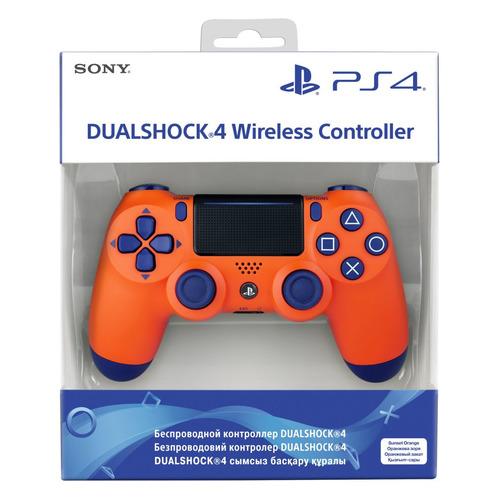 Геймпад Беспроводной PLAYSTATION Dualshock 4, Bluetooth, для PlayStation 4, оранжевый [ps719918264]
