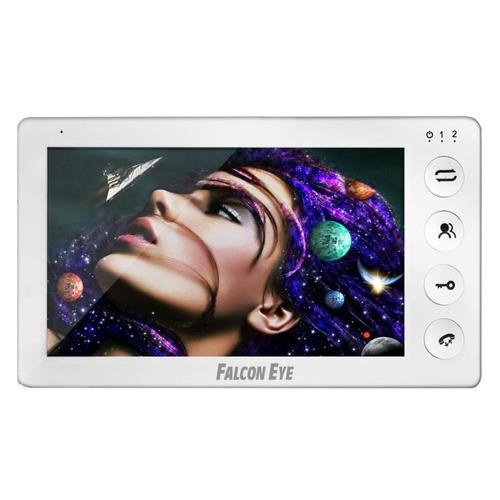 Видеодомофон FALCON EYE Cosmo Plus, белый видеодомофон falcon eye fe 4chp2 avp 505 ассорти