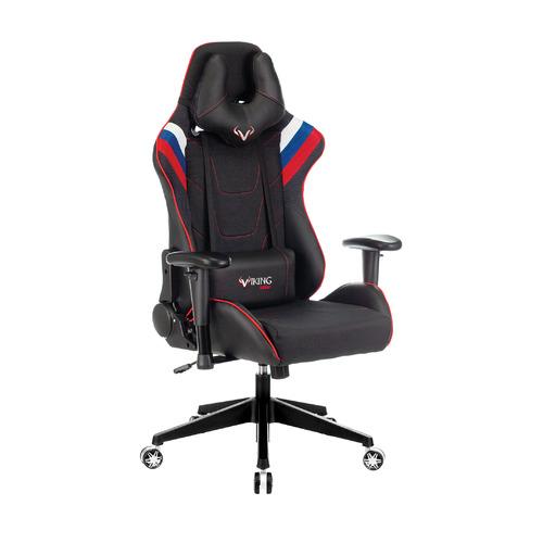 Кресло игровое ZOMBIE VIKING 4 AERO, на колесиках, искусственная кожа/ткань, белый/синий/красный/черный [viking 4 aero rus] недорого