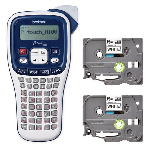 Термопринтер Brother P-touch PTH-100R (для печ.накл.) переносной черный/белый
