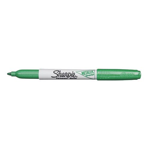 Маркер перманентный Paper Mate Metallic Fine 2067105 Sharpie зеленый 12 шт./кор. маркер перманентный 1 5 мм зеленый клиновидный нак грип index