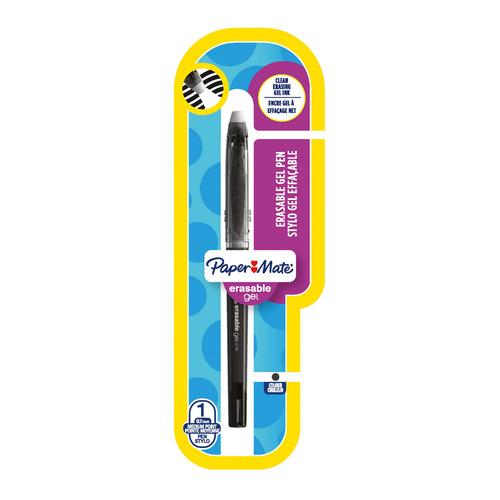 Упаковка гелевых ручек PAPER MATE Replay Erasable Gel, 0.7мм, цвет чернил: черный [1984484] 12 шт./кор.