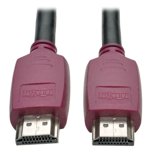 Фото - Кабель аудио-видео TRIPPLITE HDMI (m) - HDMI (m) , ver 2.0, 1.8м, GOLD черный [p569-006-cert] монитор 27 aoc 27v2q серебристый ips 1920x1080 250 cd m^2 5 ms hdmi displayport аудио