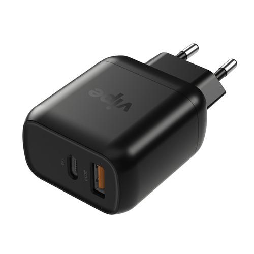 Фото - Сетевое зарядное устройство Vipe Travel Station XS P218QD, USB + USB type-C, 3A, черный дутики для девочки biki цвет черный a b23 33 c размер 34