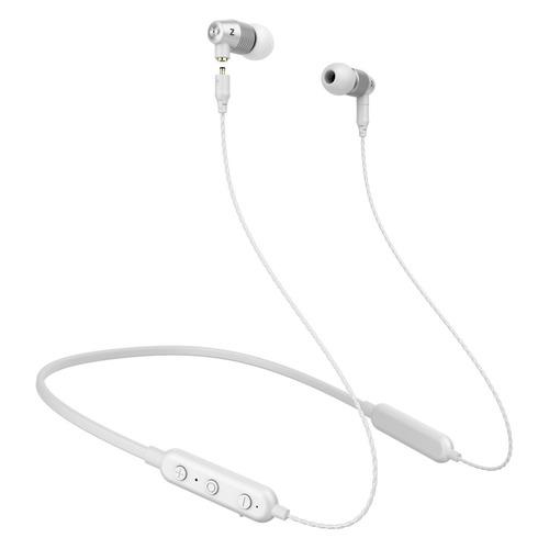 Наушники с микрофоном MUSICDEALER S BT, 3.5 мм/Bluetooth, вкладыши, серебристый/белый [zmdh-ss-bt]