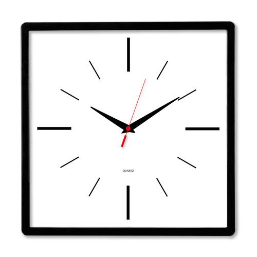 Настенные часы БЮРОКРАТ WallC-S61P, аналоговые, черный
