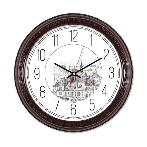 Настенные часы БЮРОКРАТ WallC-R63P, аналоговые, коричневый
