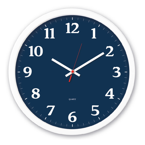Настенные часы БЮРОКРАТ WallC-R66P, аналоговые, белый